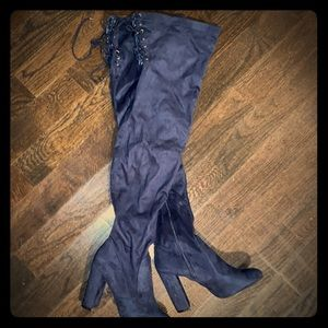 Justfab over the knee boots, size 10